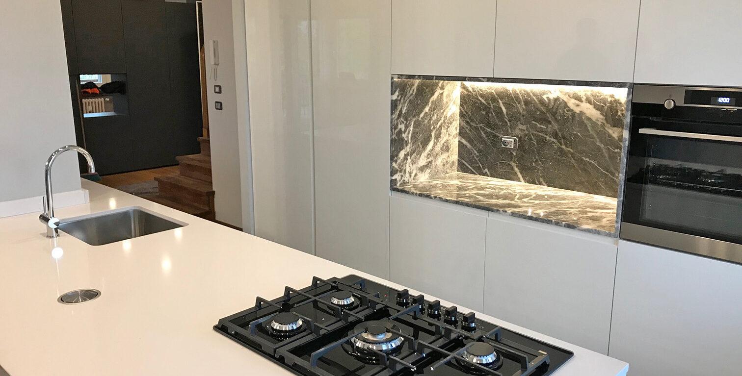 carbocalcio Nicchia Cucina marble Moncervetto